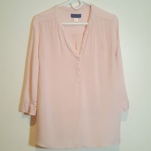 Simply styled, size XL, blush pink top